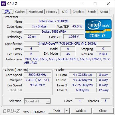 cpu-z processore